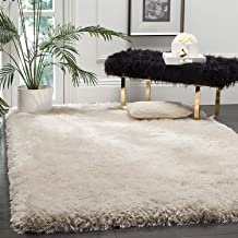 Tauhid Carpet Super Modern Shag Area Silky Smooth Rugs Fluffy Rugs Anti-Skid Shaggy Area Rug ,Bedroom Carpet 4X6 Feet ( 1.20 X 1.70) Cm ,Ivory