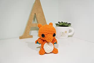 Charizard Amigurumi/Crochet Stuffed Doll (Pokemon Inspired Amigurumi) Gift Idea, Keychain, Planner Accessories, Bag Charm, Soft Toy