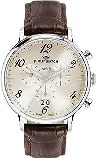 Philip Watch - Reloj Cronógrafo para Hombre de Cuarzo con Correa en Cuero R8271695001