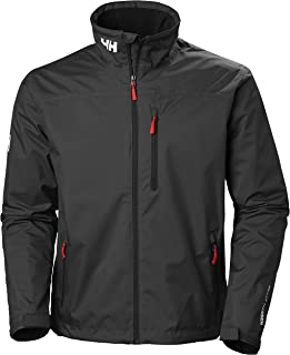Helly Hansen Men's Crew Midlayer Fleece Lined Waterproof Windproof Breathable Rain Coat Jacket