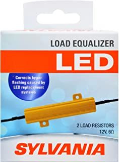 SYLVANIA - Load Equalizer 27 Watt (at 12.8V) - Turn Signal Load Resistor for LED Light Bulbs, Corrects Hyper Flash & Bulb Out Warning (Pack of 2)