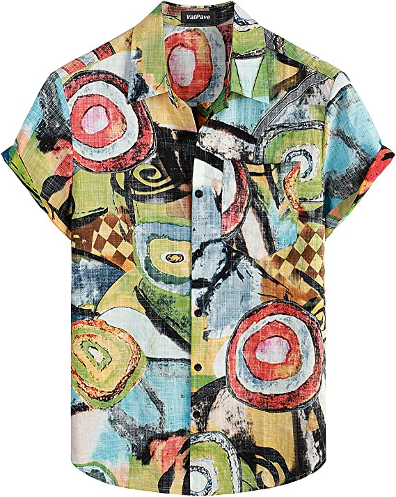 90s Outfits for Guys | Trendy, Party, Cool, Casaul VATPAVE Mens Front Pocket Hawaiian Shirts Casual Short Sleeve Button Down Beach Shirts  AT vintagedancer.com