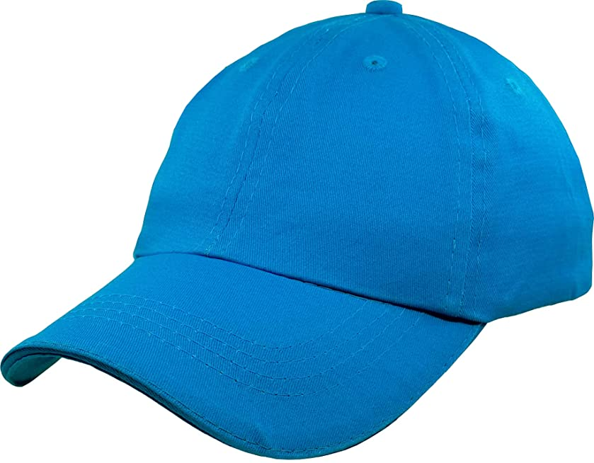 IZUS Baseball-Cap-Hat-Boys Kids Adjustable Plain - Unisex Unconstructed Low Profile Cotton