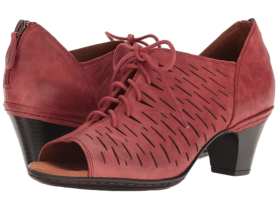 Rockport Cobb Hill Collection Cobb Hill Spencer Perforated Lace-Up (Red Nubuck) Women