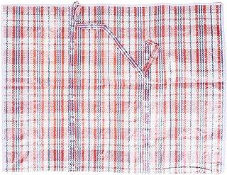 Poche à Tricoter, Sac de Rangement tissé en Plastique PP zippé de Grands Sacs à Linge commerciaux Solides réutilisables