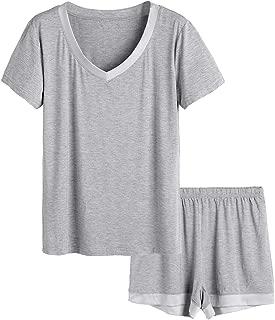 Women's V-Neck Sleepwear Short Sleeve Pajama Set