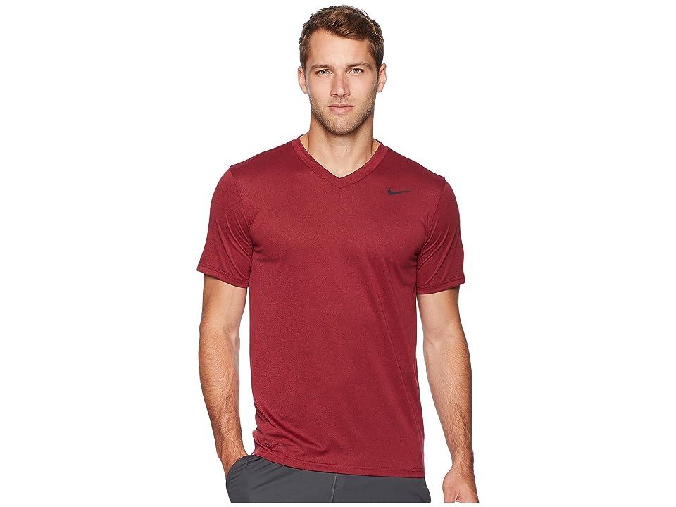 Nike Legend 2.0 Short Sleeve V-Neck Tee (Burgundy Crush/Red Crush) Men
