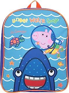 George Pig Underwater Shark Basic Mochila Azul