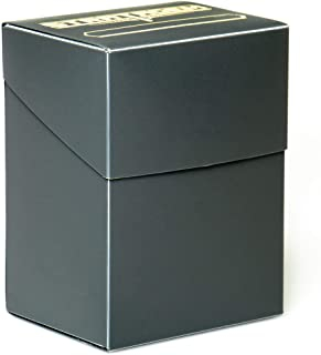 Stratagem The Big Box Card Deck Box with Divider, Black - Oversized TCG Box - Pokemon, Yugioh!, Magic The Gathering, Baseb...