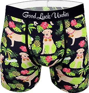 Good Luck Undies Men's Hula Labrador Retriever Boxer Brief Underwear