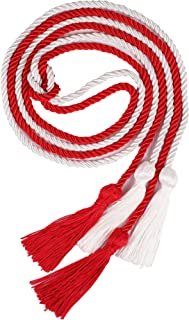 """Double Graduation Honor Cords - Red and White,68"""" Long"""
