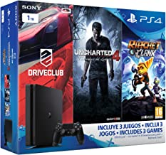 PlayStation 4 Slim (PS4) 1TB - Consola + Uncharted 4 + DriveClub + Ratchet & Clank [Pack Exclusivo]
