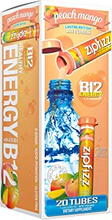Zipfizz Healthy Energy Drink Mix, Hydration With B12 & Multi Vitamins, NEW, Peach Mango, 20 Count