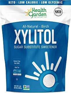 Health Garden Birch Xylitol Sweetener - Non GMO - Kosher - Made in the U.S.A. - Keto Friendly (5 lbs x 2)