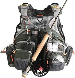 M MAXIMUMCATCH Maxcatch Fly Fishing Vest Pack (Fishing Vest/Fishing Sling Pack/Fishing Backpack)