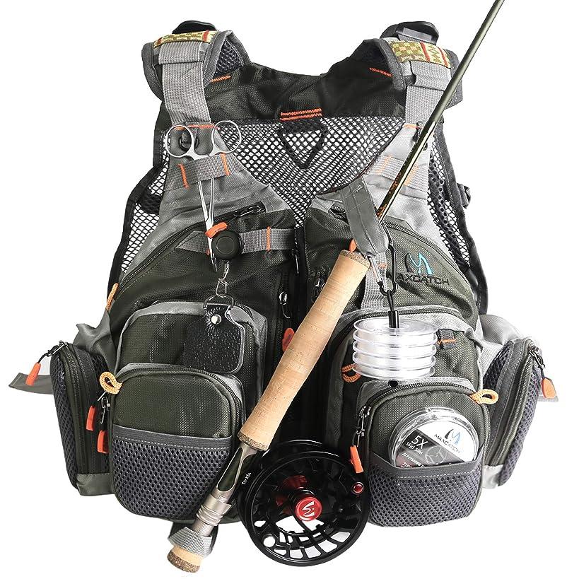 M MAXIMUMCATCH Maxcatch Fly Fishing Vest Pack (Fishing Vest/Fishing Sling Pack/Fishing Backpack)