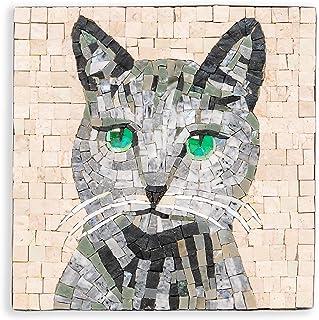 MyriJoy - Kit Mosaico Adulti - Gatto Blu di Russia - fai da te - Hobby creativo - Idea regalo originale - 20x20cm - tesser...
