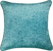 Bella Home Decorative Pillow Cover High-Tech Velvet Square Couch Pillow Cover, Decorative Throw Pillow Cover/Case for Sofa/Bed/car. 18X18 Inches,Marble Pattern,Blue,1PC.