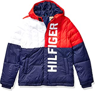 Tommy Hilfiger Boys' Adaptive Puffer Jacket with Magnetic Buttons