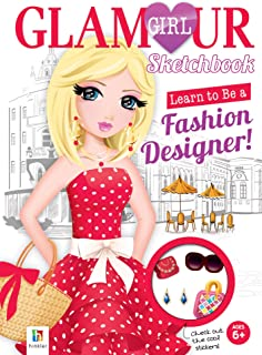 Learn to be a Fashion Designer Sketchbook (Glamour) (Glamour Girl)
