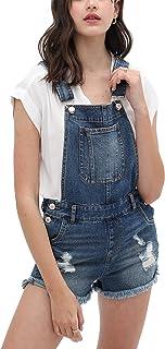 theSimple Women's Summer Cute Denim Romper Overall Shorts Shortalls