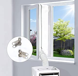 EGNBU 400CM Guarnizione Universale per Finestre, kit per finestre portatile per condizionatore d'aria e asciugatrice mobil...