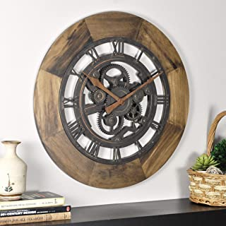 FirsTime & Co. Wood Gear Wall Clock, 19