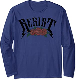 Resist Bolt Letters With Roses Long Sleeve T-Shirt