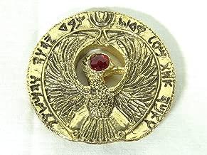 Indiana Jones, Staff of RA Headpiece, Antique Gold, Solid Metal, Red Jewels