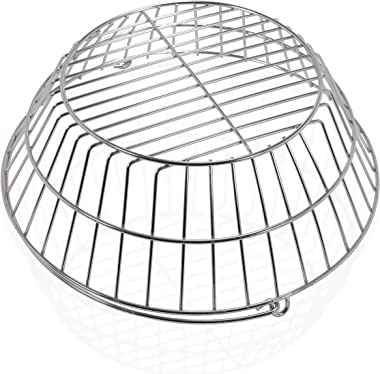Premium Products Corp. Ash Basket with Handle - Perfect for Large Big Green Eggs & Kamado Joe Classic Sizes - Fits Most G
