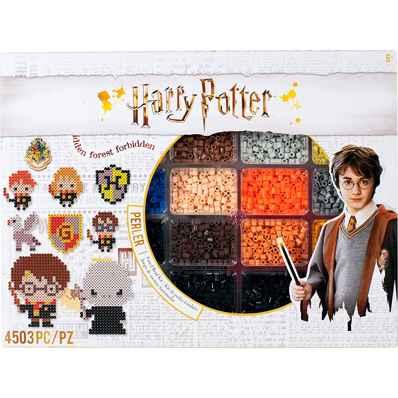 Perler Beads Harry Potter Pattern & Fuse Bead Kit, 4503Pc, 19 Patterns, Multicolor