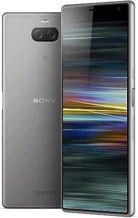 Sony Xperia 10 Plus Smartphone Desbloqueado con visualización Ancha de 6.5 Pulgadas 21:9, cámara Dual, 64 GB, Color Plateado