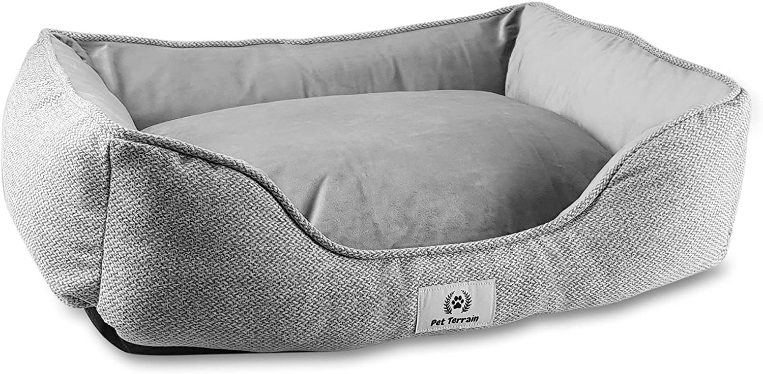 Luxury Large Dog Bed in colour grey