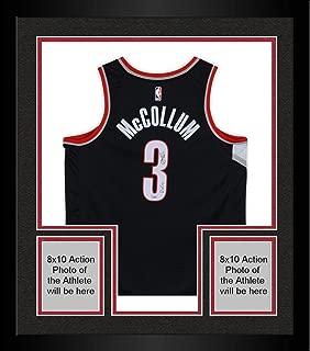 Framed C.J. McCollum Portland Trail Blazers Autographed Nike Black Swingman Jersey with