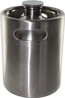 Brewhouse Keg Style Stainless Steel Beer 64 oz. Mini Keg Growler