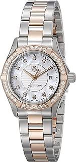 Women's WAP1452.BD0837 Aquaracer Analog Display Swiss Quartz Rose Gold Watch