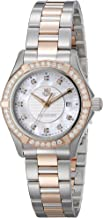 TAG Heuer Women's WAP1452.BD0837 Aquaracer Analog Display Swiss Quartz Rose Gold Watch