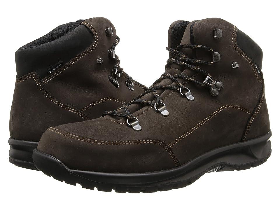 Finn Comfort Tibet 3914 (Shiefer Schwarz/Neptune Buggy) Lace-up Boots