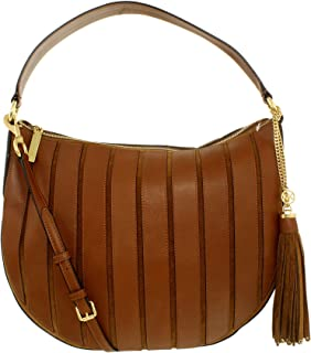 9cd3a336dc5e0f Michael Kors Women's Large Brooklyn Applique Convertible Suede Leather  Top-Handle Bag Hobo