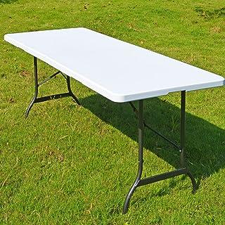 comprar comparacion Casaria Mesa de Camping Picnic Eventos Plegable Blanco para Todo Tipo de Eventos se Convierte en Maleta 182 x 76 x 74 cm