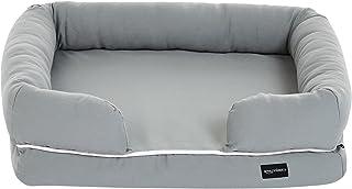 AmazonBasics 寵物沙發 帶枕 休息床 小型寵物 64 x 51 x 17cm 灰色