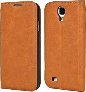 Samsung S4 Mini Case,Mulbess PU Leather Wallet Case with Kick Stand for Samsung Galaxy S4 Mini,Brown