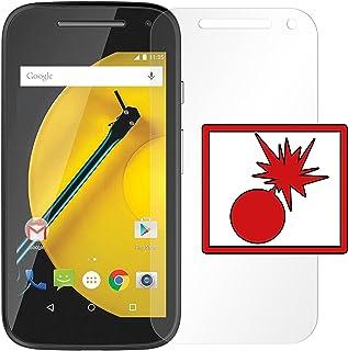 Slabo 2 x pansarskyddsfolie Motorola Moto E 2. Generation pansarfilm skärmskyddsfolie folie stötsäker | stöttålig osynlig ...
