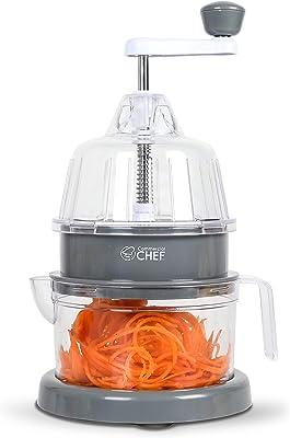 Commercial Chef CH1513 - Rallador en espiral (17,8 x 12,7 cm), color gris