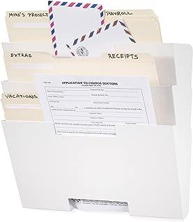 Wallniture Lisbon White Wall Mounted Steel File Holder - Organizer Rack 3 Sectional Modular Design Letter Size 13 Inch - Multi-Purpose Organizer Display Magazines - Sort Files and Folders