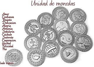 Silver Spanish Unity Coins Arras, Wedding Arras, Arras de Boda, Wedding Coins, Spanish Words on These Coins