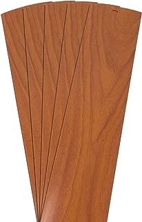 DALIX Wood Grain Vinyl Vertical Blinds Replacements Pecan 52.5