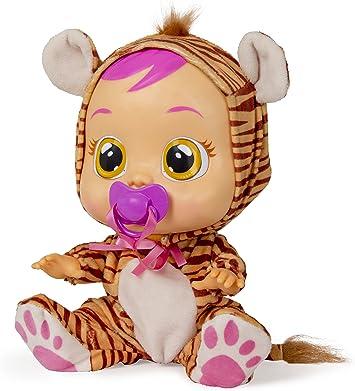 Bebés Llorones Nala - Muñeca interactiva que llora de verdad con chupete y pijama de Tigre