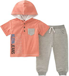 Calvin Klein Baby Boys 2 Pieces Hooded Pant Set
