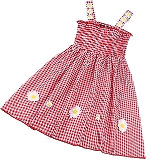 DELIMALI Infant Baby Girl 's Suspender Dress, Toddler Girls Fashion Sweet Bear Letter Print A-line Princess Dress